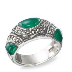 Marcasite jewelry ring HR0497 1