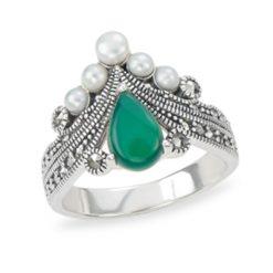 Marcasite jewelry ring HR1211 1