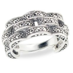 Marcasite jewelry ring HR1299 3L 1
