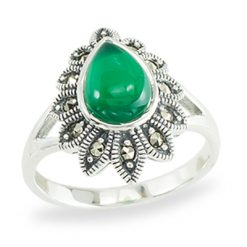 Marcasite jewelry ring HR1391 1