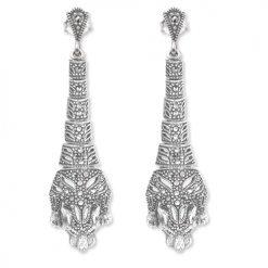 marcasite earring HE1130 1