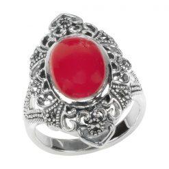 Marcasite jewelry ring HR1575 002